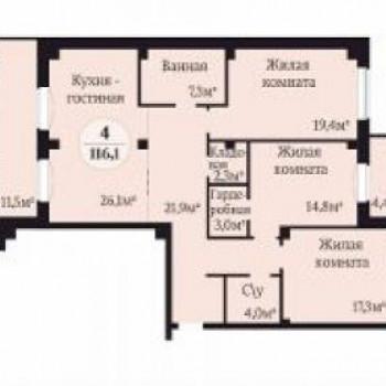 ЖК Ньютон (Челябинск) – планировка №2