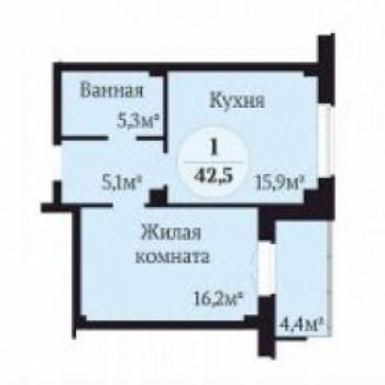 ЖК Ньютон (Челябинск) – планировка №1