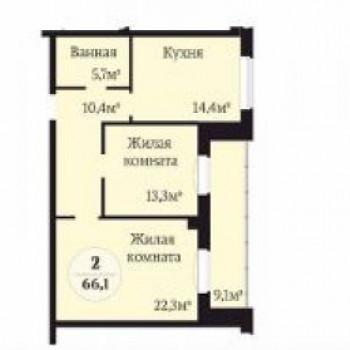 ЖК Ньютон (Челябинск) – планировка №4