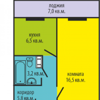 ЖК Высотки на Электростальской (Челябинск) – планировка №1