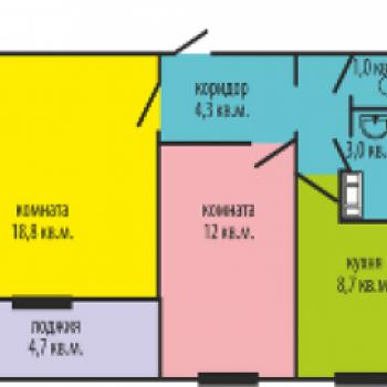 ЖК Высотки на Электростальской (Челябинск) – планировка №3