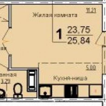 ЖК Чурилово Лэйк Сити (Челябинск) – планировка №1