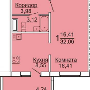 ЖК Тургеневский (Челябинск) – планировка №1