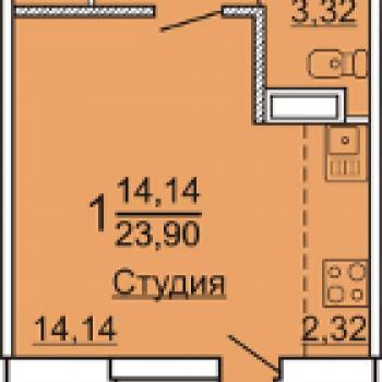 ЖК Тургеневский (Челябинск) – планировка №3