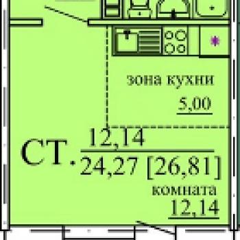 ЖК Плодушка (Челябинск) – планировка №1