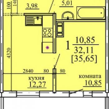 ЖК Плодушка (Челябинск) – планировка №3