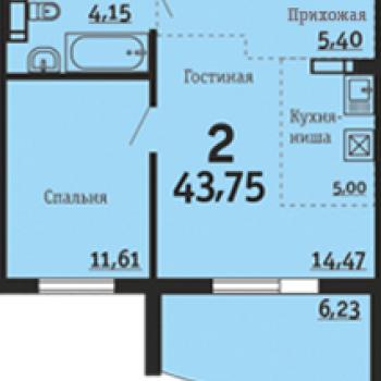 ЖК Вцентре74 (Челябинск) – планировка №3