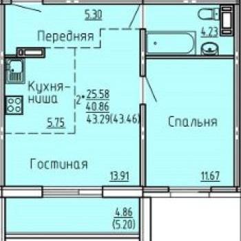 ЖК Молодежный (Челябинск) – планировка №2