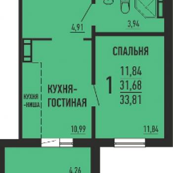 ЖК Парковый (Челябинск) – планировка №4