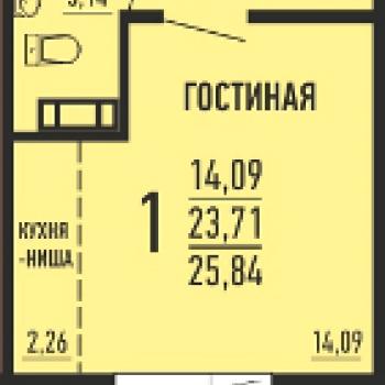 ЖК Парковый (Челябинск) – планировка №1