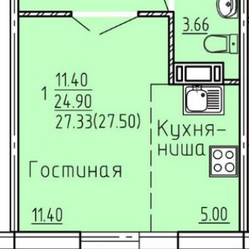 ЖК ГринВилл (Челябинск) – планировка №3