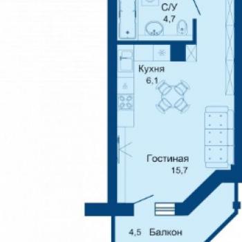 ЖК Сокол (Челябинск) – планировка №4