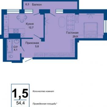 ЖК Сокол (Челябинск) – планировка №2