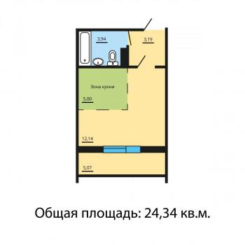 ЖК Квартал у озера (Челябинск) – планировка №11