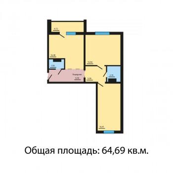 ЖК Квартал у озера (Челябинск) – планировка №2