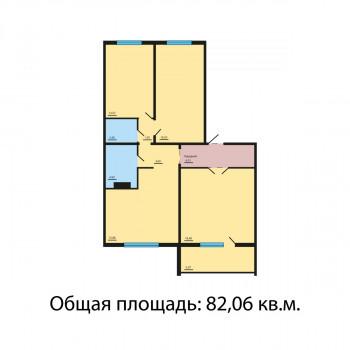 ЖК Квартал у озера (Челябинск) – планировка №1