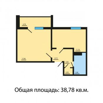 ЖК Квартал у озера (Челябинск) – планировка №10