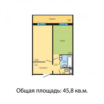 ЖК Квартал у озера (Челябинск) – планировка №9