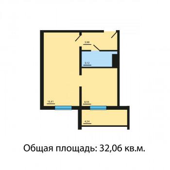 ЖК Квартал у озера (Челябинск) – планировка №8