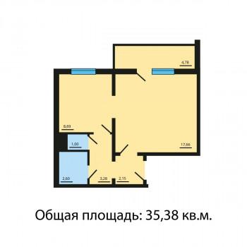 ЖК Квартал у озера (Челябинск) – планировка №7