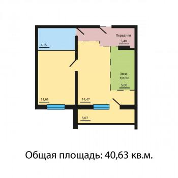 ЖК Квартал у озера (Челябинск) – планировка №4