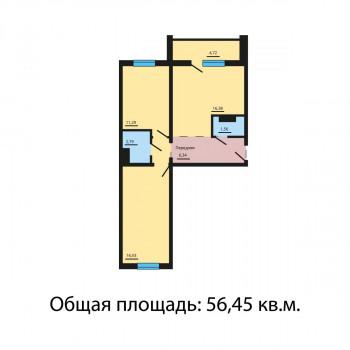 ЖК Квартал у озера (Челябинск) – планировка №3