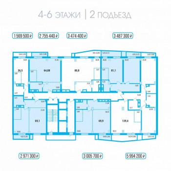 ЖК Западный луч (Челябинск) – планировка №6