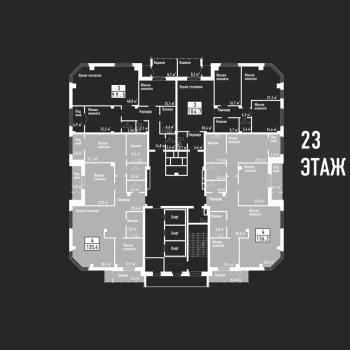 ЖК Башня свободы (Челябинск) – планировка №1