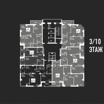 ЖК Башня свободы (Челябинск) – планировка №9