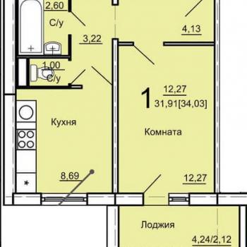 ЖК Дом на Косарева (Челябинск) – планировка №6