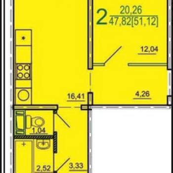 ЖК Дом на Косарева (Челябинск) – планировка №4