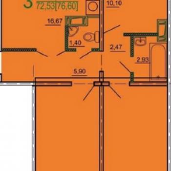 ЖК Дом на Косарева (Челябинск) – планировка №2