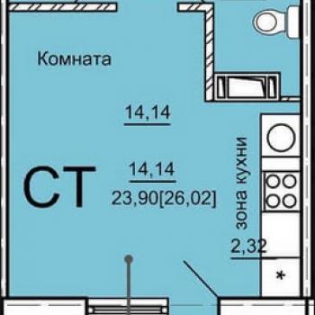 ЖК Дом на Косарева (Челябинск) – планировка №1