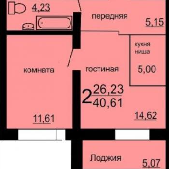 ЖК Микрорайон 49-В (Челябинск) – планировка №3