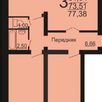 ЖК Микрорайон 49-В (Челябинск) – планировка №2