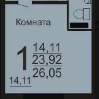 ЖК Микрорайон 49-В (Челябинск) – планировка №1