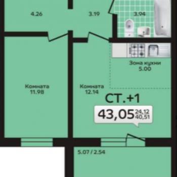 ЖК Дом на Кулибина (Челябинск) – планировка №3