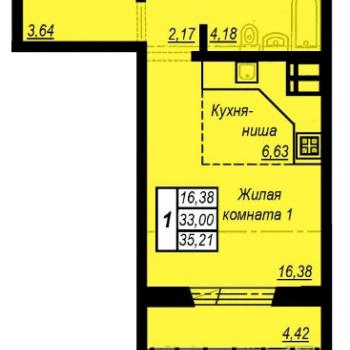 ЖК Академ Риверсайд (Челябинск) – планировка №6