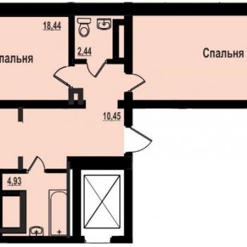 ЖК Академ Риверсайд (Челябинск) – планировка №2