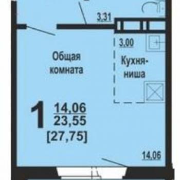 ЖК Академ Риверсайд (Челябинск) – планировка №1