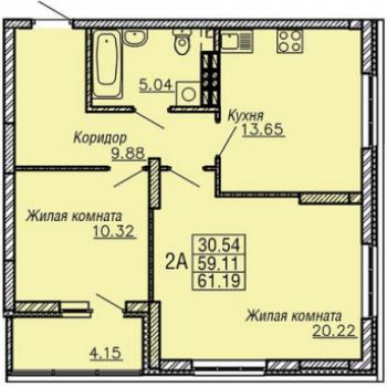 ЖК РИО (Екатеринбург) – планировка №2