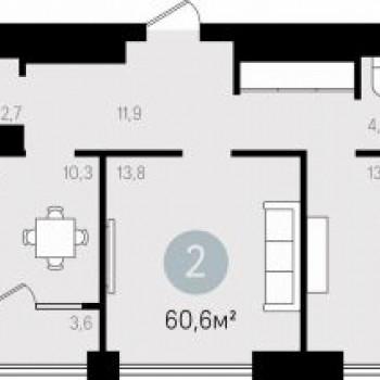 Квартал Новаторов (Екатеринбург) – планировка №1