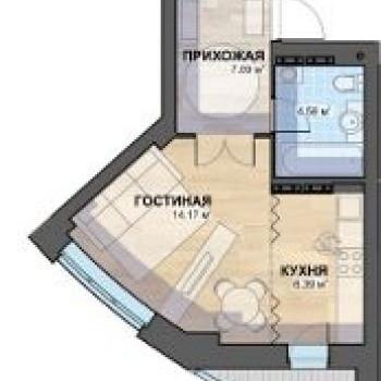 ЖК Просторы (Екатеринбург) – планировка №1