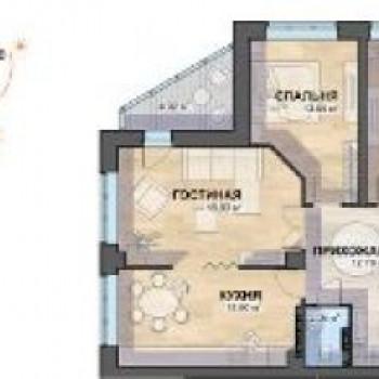 ЖК Просторы (Екатеринбург) – планировка №2