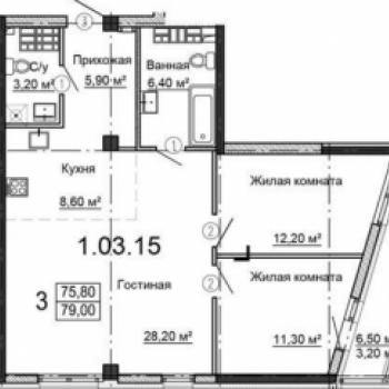 ЖК Родник (Екатеринбург) – планировка №2