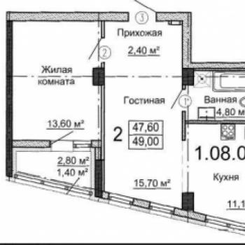 ЖК Родник (Екатеринбург) – планировка №1