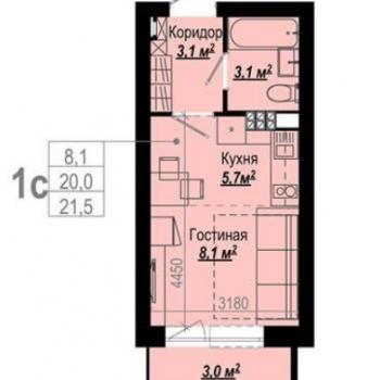 ЖК 7 ключей (Екатеринбург) – планировка №3