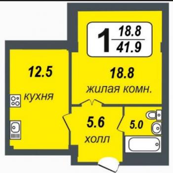 ЖК Миллениум (Екатеринбург) – планировка №10