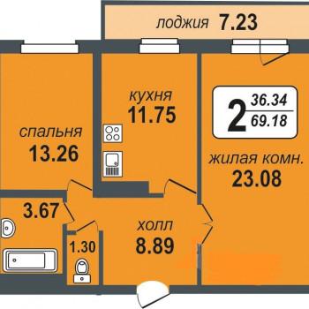 ЖК Миллениум (Екатеринбург) – планировка №6