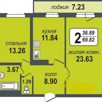 ЖК Миллениум (Екатеринбург) – планировка №5